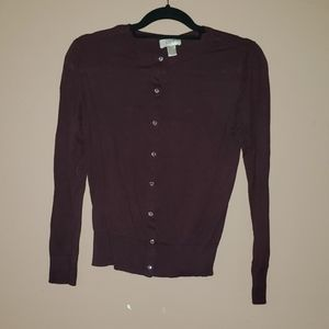 Dark Wine Cardigan